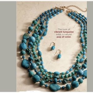 Modern Santa Fe Multistrand Necklace and Earring